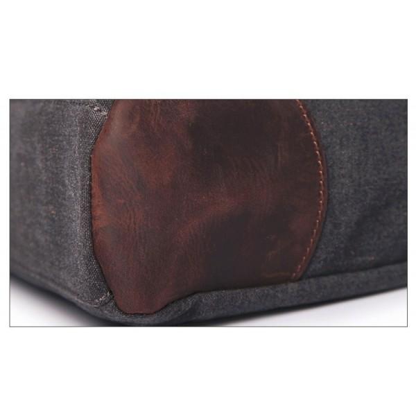 cd46627ac8bea TA3 MESSENGER 3 VINTAGE™ Torba na ramię listonoszka płótno - skóra  naturalna A4 - kawowa