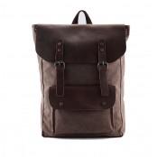 P1 VINTAGE TAR™ Plecak płótno - skóra naturalna A4 - czerwony