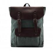 P1 VINTAGE TAR™ Plecak płótno - skóra naturalna A4 - zielony