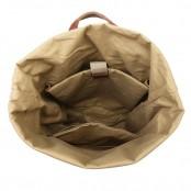 P01 WAX VINTAGE™  plecak płótno woskowane + skóra naturalna. A4 - khaki, zieleń wojskowa, czarny, brązowy
