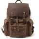 P06 WAX OUTDOOR 2 SCOUT™ Tradycyjny plecak z woskowanej bawełny + skóra naturalna. A4 - 4 kolory