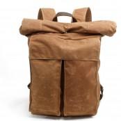 P10 WAX SONIA UNISEX™  plecak płótno woskowane . A4 - Khaki, zielony, czarny, ciemnoszary