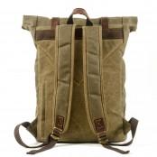 P11 WAX LORIEN UNISEX™ plecak płótno woskowane . A4 - brąz, zielony, zieleń wojskowa, ciemnoszary