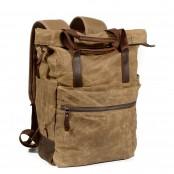 P12 WAX CHESTER UNISEX™  plecak płótno woskowane. A4 - szara zieleń