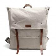 P14 NIVETTE™ plecak płótno bawełniane + skóra naturalna. A4 - kawowy, zielony, biały, ciemnoszary