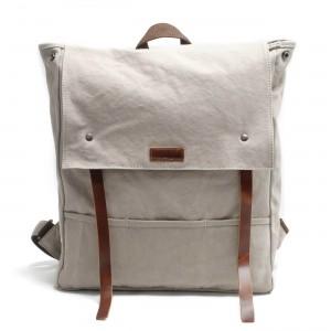 5d234a548fb3c P14 NIVETTE™ plecak płótno bawełniane wosk + skóra naturalna. A4 - kawowy,  zielony