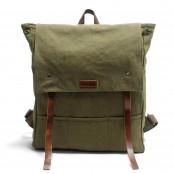 P14 NIVETTE™ plecak płótno bawełniane wosk + skóra naturalna. A4 - kawowy, zielony, czarny, szary