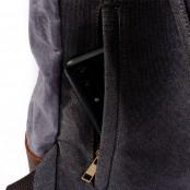 P17 WAX KAHUNA™  plecak płótno woskowane + skóra naturalna. A4 - 4 kolory