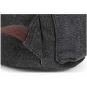 P8 WAX STANFORD UNISEX™  plecak bawełniany z dodatkami ze skóry naturalnej. A4 - Szary, czarny, zielony, khaki