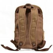 P9 WAX BOSTON UNISEX™  plecak płótno woskowane - skóra naturalna. A4 - Khaki, szaro-zielony, czarny