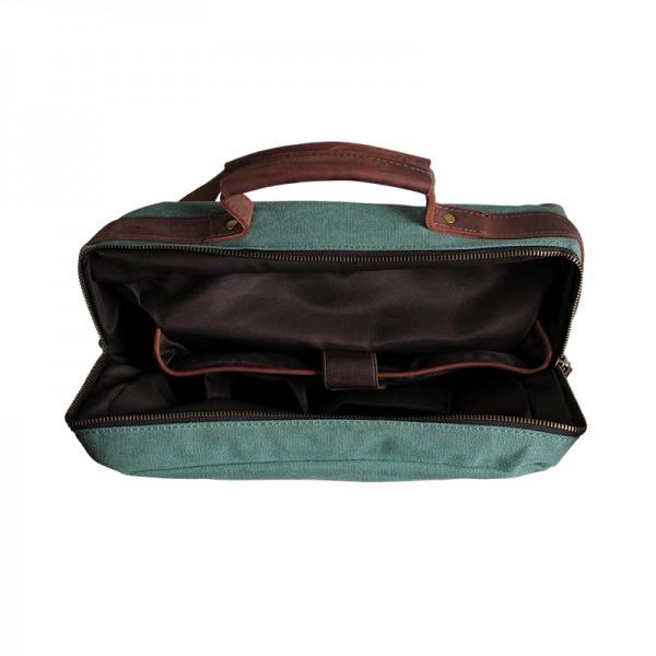 3aac068efcbdc P2 VINTAGE II™ Plecak unisex płótno + skóra naturalna A4 - szary