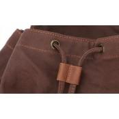 (24) TD04 OXFORD™ plecak szkolny - miejski. Bawełna i skóra naturalna. Unisex (kawowy)