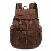 TD04 OXFORD™ plecak szkolny - miejski. Bawełna i skóra naturalna. Unisex