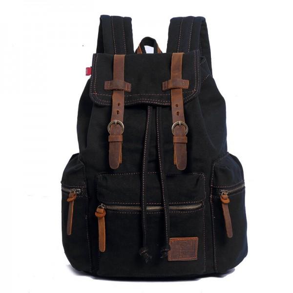 cadd65fa14c12 (24) TD04 OXFORD™ plecak szkolny - miejski. Bawełna i skóra naturalna.  Unisex (kawowy)