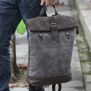 1cddbc19013e8 TD32 WAX MARENGO UNISEX™ damski plecak + torba 2w1 płótno - skóra naturalna