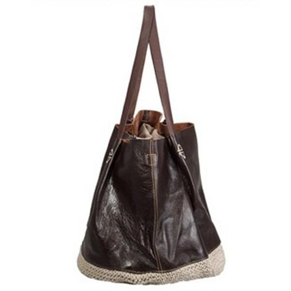 4903c73df5117 TD4 SILVIENNE™ miejska torba na ramię. Bawełna i skóra naturalna