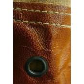 """TD08 SAHARA TOTE™ Torba na ramię płótno - skóra naturalna 17"""""""